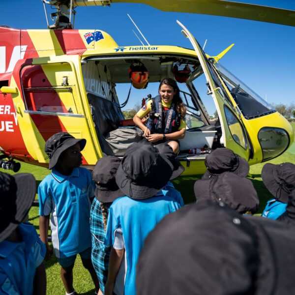 Westpac Helicopter Landing at primary school