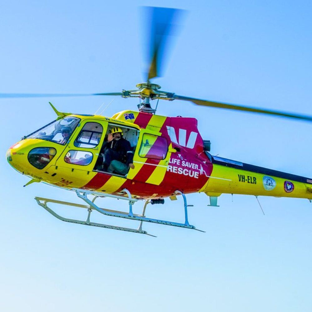The Westpac Life Saver Rescue Helicopter Service plays a crucial role in coastal safety & identifying emergencies along the WA coast.